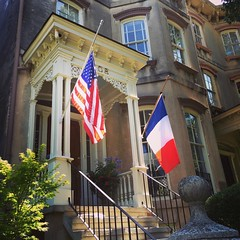 #france (Susan_Dennis) Tags: usa france ga square flag squareformat savannah mayfair iphoneography instagramapp