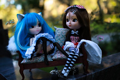 Girl Talk (dreamdust2022) Tags: school cute girl loving happy high hug kiss doll pretty chelsea day sweet innocent young adorable kitty shy sparrow pullip charming pure dreamer darling playful kenzie tender aiko