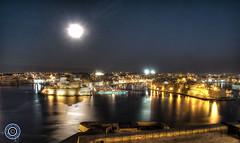 Moon over Grand Harbour (Michael N Hayes) Tags: malta valletta mediterranean europe grandharbour summer fujifilmxpro1 sea culture city