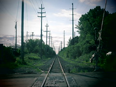 The Industrial Past Right Down the Line. (david grim) Tags: unionmilespark cleveland oh ohio streetphotography cuyahogacounty eastside railroadtracks