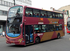 Go North East 6043: NK12GCO (Cobalt271) Tags: gne 6043 nk12gco volvo b9tl wright eclipse gemini 2 tyne tees express livery nebuses