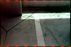 Lines of light and paint. (FreezerOfPhotons) Tags: olympus35sp konica160pro unicolorc41