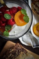 Homemade bread and yogurt (TailorTang) Tags: bread homemade raspberry apricot mintleaf yogurt breakfast food foodphotography stilllife 50mm 5014