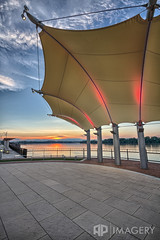 Canopy at Sunset (AP Imagery) Tags: sunset downtown ky pavilion canopy overlook bandshell owensboro clamshell smotherspark