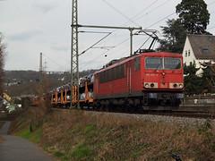 155 251 (jvr440) Tags: train eisenbahn zug db bahn railways freight trein 155 railroads koblenz deutsche spoorwegen schenker urbar baureihe goederentrein