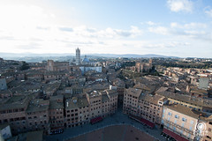 Panorama dalla Torre del Mangia (andrea.prave) Tags: italien italy panorama tower church square italia torre place cathedral kathedrale catedral iglesia kirche chiesa cathdrale igreja tuscany siena piazza toscana markt toscane glise italie kirkjur mangia kathedraal  toskana piazzadelcampo cattedrale   torredelmangia               discovertuscany visittuscany