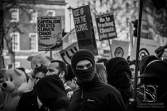Anti Fascist Climate Change 2 (nathan.shepherd88) Tags: street uk england london sign march protest angry change capitalism anti unrest climatechange climate fascist picket antifascist downing anticapitalist