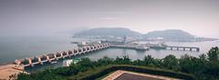 Nampo West Sea Barrage (reubenteo) Tags: ocean travel tourism nature wonder asia dam cities exotic electricity barrage northkorea dprk kimilsung nampo