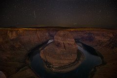 Horseshoe Bend Night-3 (brendanvanson) Tags: travel arizona usa nature night america stars landscape williams unitedstates page northamerica startrails horseshoebend