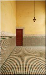door and lantern (mhobl) Tags: door tiles maroc lantern meknes mausoleummoulayismael