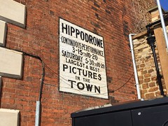 Photo of Ghost sign for the Hippodrome cinema in Kettering