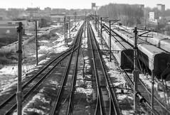 Kostroma-Novaya railway station (andrey.senov) Tags: railroad blackandwhite bw station blackwhite fuji russia railway fujifilm   kostroma     xa1 35faves 25faves  fujifilmxa1 kostromanovaya