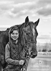 Perfect Pair (CassieThomasPhotography) Tags: blackandwhite pony photooftheday picoftheday beautifulchild beautifulhorse portraitapril horsephotography