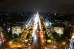 Champs-Elysees - Arc de Triomphe - Paris - France ( Gabriel Franceschi) Tags: paris france gabriel rain night de nikon champs arc triomphe sigma 1750 f28 hsm franceschi d300s elysees