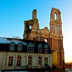 The ruined towers of the Abbey of  Mont-Saint-loi (MickyFlick) Tags: france tower abbey ancient ruins towers architectural legendary historical legend nordpasdecalais nord ruined arras pasdecalais labbaye historically montsaintloi