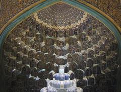 Isfahan Imam mosque gate vault decorations (Germn Vogel) Tags: travel art tourism floral architecture night design gate asia pattern iran muslim islam decoration middleeast tiles silkroad vault iwan muslimculture muslimart islamicrepublicofiran westasia iranianculture