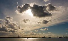 Southampton Water (Andy Latt) Tags: light sea sky sun clouds coast shore southampton southamptonwater dsc01336r