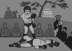 Grudge Match (IamRobertShaw) Tags: film roy illustration movie dragon bruce monk ali lee knockout enter hung muhammad crossover chiao sammo