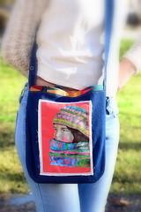Cross body bag (Cristali Designs) Tags: texas boots designer handmade wallet sewing crafts country creative style blogger fabric denim clutch folded etsy tutorial repurposed manualidades costura crossbody billetera bifold cristalidesigns