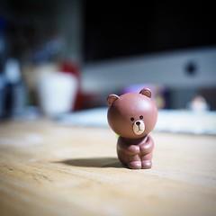หมีบราวนั่งหง่าว #ของฝากจากเกาหลี