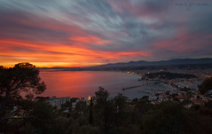 French Riviera @ Sunset (greg02100) Tags: sunset panorama france french nice riviera paca canon5d mont boron canon1740 6stops grisneutre