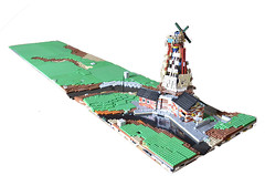 Lay-out Legoworld 2016 WIP Update (jonkheer moc's) Tags: mill windmill dutch lego farm nederland angles polder molen techniques boerderij lowlug