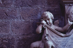 Weeping Cherub (Aestheticus Media) Tags: blue shadow sculpture art beauty architecture cathedral cherub chichester