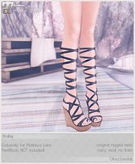 fri. - Olivia.Sandals for Uber May! (Darling Monday) Tags: friday maitreya ubersl