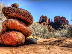 Rock Pile Cathedral Rock (KnightedAirs) Tags: arizona mountain rock digital canon photography photo cathedral sedona grand powershot epic hdr formations s100
