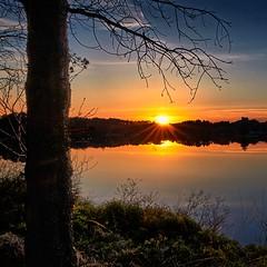 Storavatnet, Norway (Explored) (Vest der ute) Tags: sunset tree norway reflections rogaland waterscape fav25 fav200 g7x ryksund