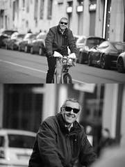 [La Mia Citt][Pedala] con il bikeMi e sorridendo (Urca) Tags: portrait blackandwhite bw bike bicycle italia milano bn ciclista biancoenero bicicletta 2016 pedalare dittico sorridendo bikesharing bikemi ritrattostradale 85560 nikondigitalemir