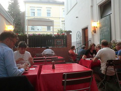 "In Bonn La Rivera auf der Terrasse 2013 (Bonn Truck) Tags: deutschland restaurant la bonn pizzeria rivera in 2013 indeutschland larivera bonn"" inbonn tottorialarivera ""larivera tottoria"