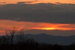 15-1491 (George Hamlin) Tags: trees sunset sky orange mountains yellow clouds photography virginia photo george colorful bare culpeper decor hamlin
