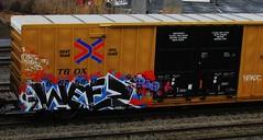 weez (timetomakethepasta) Tags: train graffiti boxcar weez d30 freight nekst tbox ttx wyse