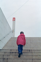 Metro (Daire Quinlan) Tags: street color colour film portugal 35mm nikon metro kodak mark lisbon f100 100 nikkor f28 100asa asa100 quinlan c41 profoto 2035mm adamovic