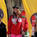 Stefanie Fleckenstein (1st), Hannah Melinchuk (2nd), Mia Henry (3rd) - Keurig Cup GS at Red Mountain