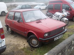 Yugo 45A Gold (occama) Tags: old uk red car gold cornwall serbia plate special 1989 edition yugo rare 1990 yugoslavia cornish zastava 45a g578caf