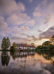 Down by the river (grbush) Tags: longexposure sunset sky reflection mill water clouds river northamptonshire rivernene tokinaatx116prodxaf1116mmf28 hardwatermill sonyslta77