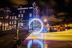 Amsterdam Light Festival (sxdlxs) Tags: street city longexposure winter light sky urban blackandwhite white black color colour art colors amsterdam festival architecture night landscape lights colorful cityscape colours perspective streetphotography nighttime nightlight urbanphotography lightfestival amsterdamlightfestival