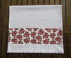 Pano de prato com flores rosas (Ateliê da Russa) Tags: panodeprato panodecopa
