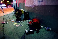 Behind of Los Angeles (tatsuya.ouchi) Tags: life california road street city nightphotography sleeping urban rescue cold night america person death la town losangeles mess alone cityscape nightscape sleep homeless poor streetphotography save litter scatter problem hidden help hide silverlak