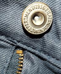 Macro Mondays - Take Something Ordinary (vegeta25) Tags: blue macro fuji jeans button denim fujifilm 1956 department myfuji macromondays s3200 takesomethingordinary filaton