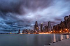 City at night, Chicago (Symbiosis) Tags: chicago skyline night lakemichigan lakeshoredrive
