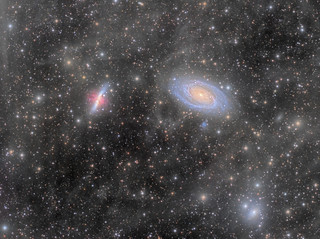 M81, M82 and Integrated Flux Nebula