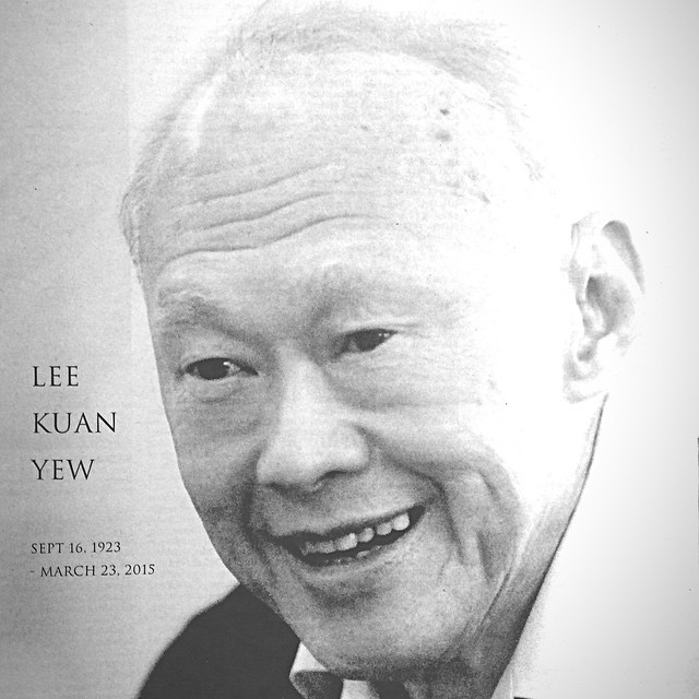 This is the cover of the special edition of The Straits Times newspaper printed in tribute to Lee Kuan Yew