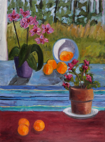 01. Still life with Orchids - oil on canvas 3' x 4' $2000