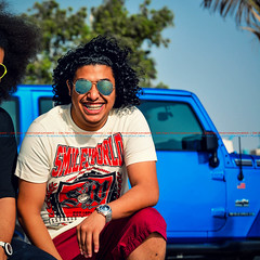 Dr. Rasel - My Brother (dr.7sn Photography) Tags: blue red usa smile emblem happy jeep brother flag afro style hydro short polar emt wrangler rayan      my    rasel
