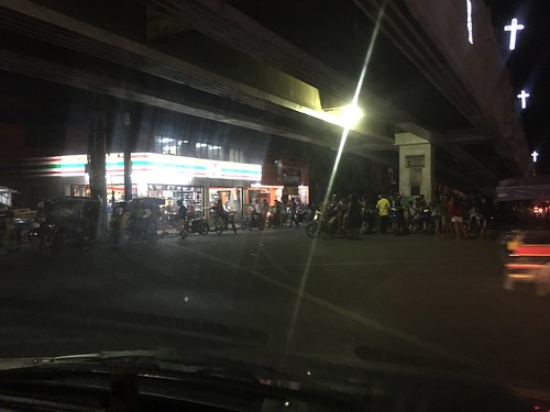 The local 7-11 at night near Cebu City.