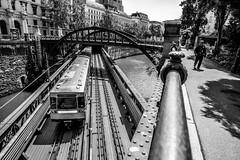 Metro, Water, Man (Mario Sixtus) Tags: vienna wien leica 35mm m konica dual 240 21mm hexanon