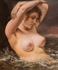 The Woman in the Waves (Thomas Hawk) Tags: nyc usa newyork museum painting unitedstates manhattan unitedstatesofamerica met metropolitan metropolitanmuseum themetropolitanmuseumofart fav10 gustavecourbet thewomaninthewaves